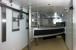 View of the interior of the SLEQ Equine Hyperbaric chamber