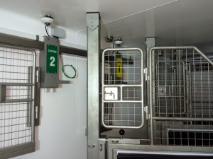 Close up of the hood oxygen delivery stations in the SLEQ Equine Hyperbaric chamber