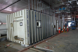 Hyperbaric chamber cladding in progress at the New Royal Adelaide Hospital