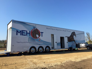View of Mobile Equine Hyperbaric Therapy (MEHOT) trailer